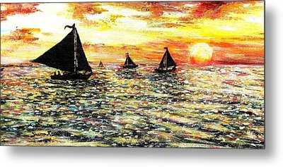 Metal Print featuring the painting Sail Away With Me by Shana Rowe Jackson