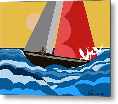 Sail Day Metal Print by Christine Fournier
