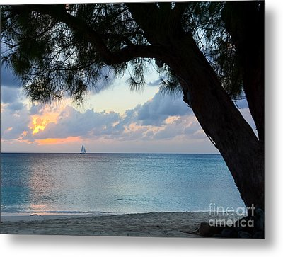 Sail Into The Sunset Metal Print by Karen English