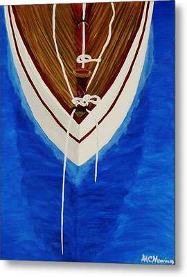 Metal Print featuring the painting Sail On by Celeste Manning
