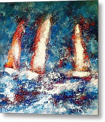 Sail On Metal Print