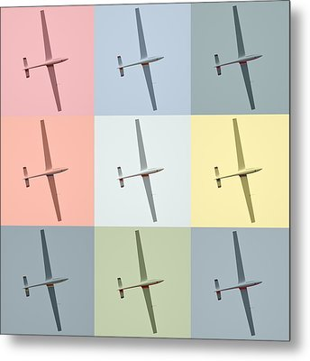 Sail Plane  Metal Print by Tommytechno Sweden