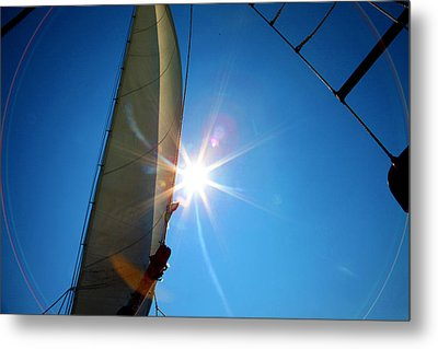 Sail Shine By Jan Marvin Studios Metal Print