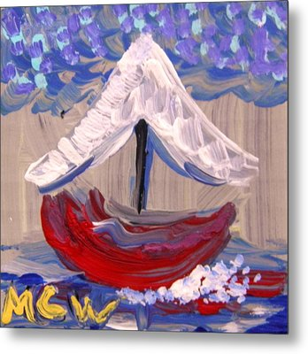 Metal Print featuring the painting Sail Travel by Mary Carol Williams