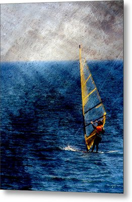 Sailboarding W Metal Metal Print