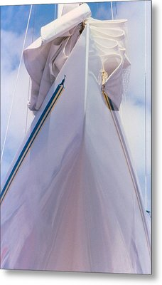 Metal Print featuring the photograph Sailboat Bow by Michael Dohnalek