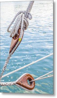 Sailboat Deadeyes 1 Metal Print by Leigh Anne Meeks