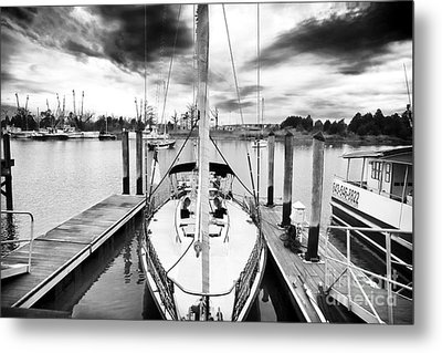 Sailboat Docked Metal Print by John Rizzuto