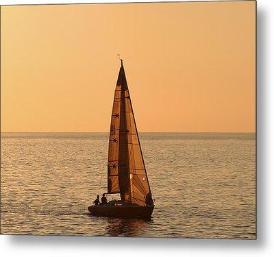 Sailboat In Hawaii Metal Print by Kim Hojnacki