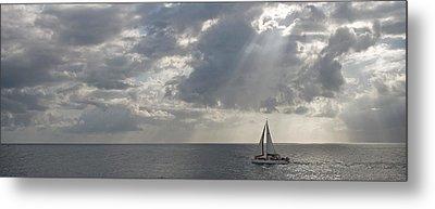 Sailboat In The Sea, Negril, Jamaica Metal Print