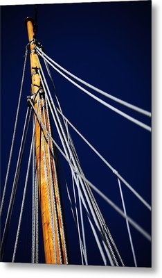 Sailboat Lines Metal Print by Karol Livote