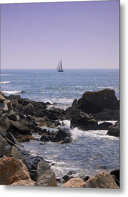 Sailboat - Maine Metal Print