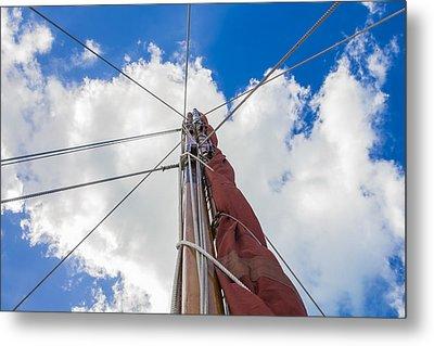 Sailboat Mast 1 Metal Print by Leigh Anne Meeks
