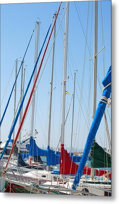 Sailboat Masts Metal Print by Artist and Photographer Laura Wrede