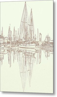 Metal Print featuring the photograph Sailboat On Liberty Bay by Greg Reed