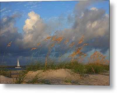 Sailboat Wrightsville Beach North Carolina  Metal Print by Mountains to the Sea Photo