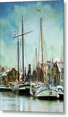 Sailboats Metal Print by Annie Snel