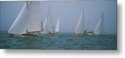 Sailboats At Regatta, Newport, Rhode Metal Print