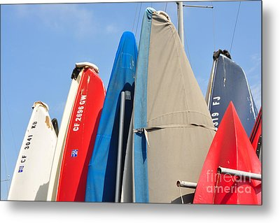 Metal Print featuring the photograph Sailboats At Rest by Vinnie Oakes