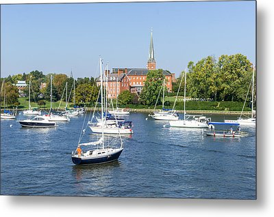 Sailboats By Charles Carroll House Metal Print by Charles Kraus