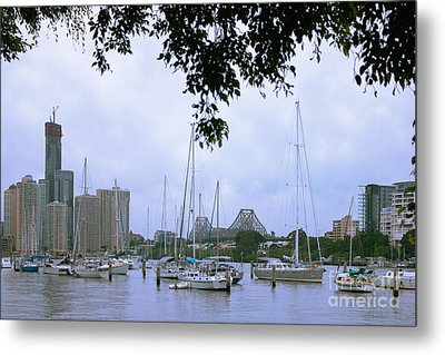 Metal Print featuring the photograph Sailboats In Brisbane Australia by Jola Martysz