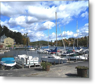 Sailboats On Sunapee Metal Print by Will Boutin Photos