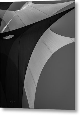 Metal Print featuring the photograph Sailcloth Abstract Number Eight by Bob Orsillo
