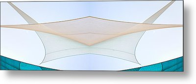 Sailcloth Abstract Times Two Metal Print by Bob Orsillo