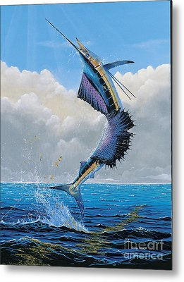 Sailfish Dance Off0054 Metal Print by Carey Chen