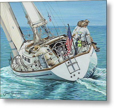 Sailing Away Metal Print by Jane Girardot