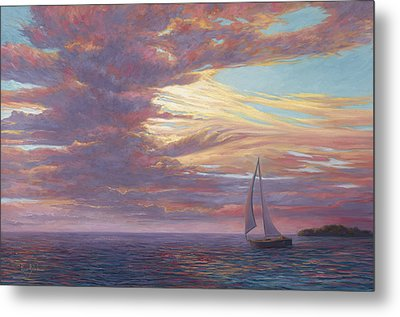 Sailing Away Metal Print by Lucie Bilodeau