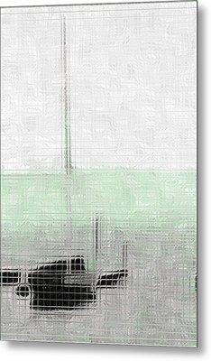 Sailing Boat At A Dock Metal Print