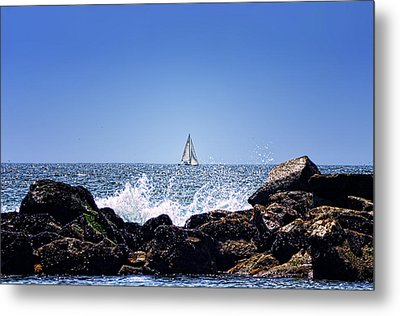 Sailing By Metal Print by Camille Lopez