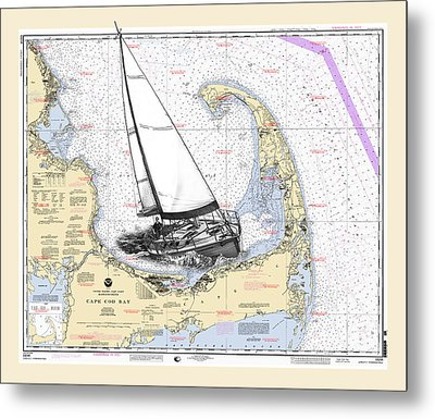 Sailing Cape Cod Bay Metal Print by Jack Pumphrey