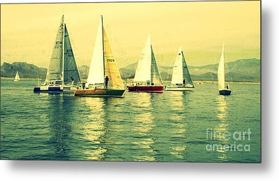 Metal Print featuring the photograph Sailing Day Regatta 2 by Julie Lueders