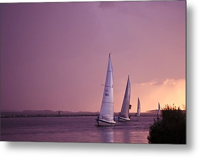 Sailing From The Sun Metal Print by Kelly Reber
