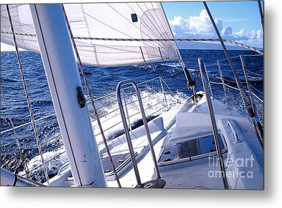 Sailing Hawaii Metal Print by Joseph J Stevens