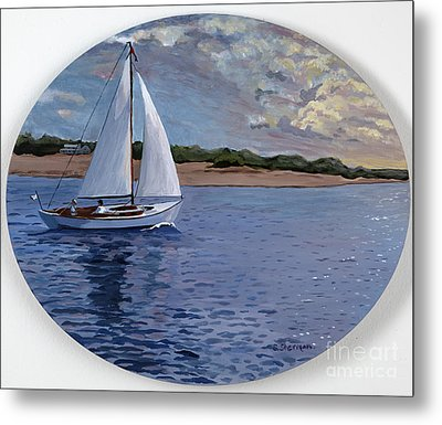 Sailing Homeward Bound Metal Print by Stella Sherman