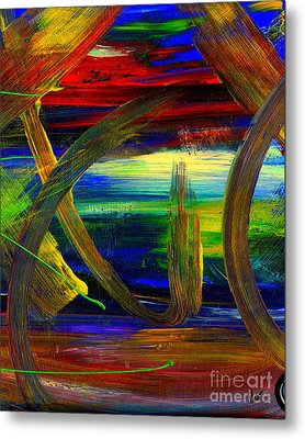 Sailing In Calmness Over A Troubled Sea Metal Print by Angela L Walker