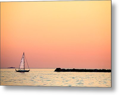 Sailing In Color Metal Print by Gary Heller