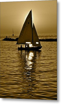 Sailing In Sepia Metal Print by Frozen in Time Fine Art Photography