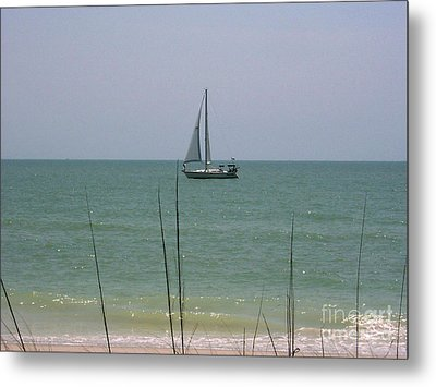 Metal Print featuring the photograph Sailing In The Gulf by D Hackett