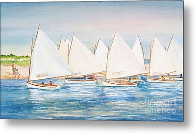 Sailing In The Summertime II Metal Print by Michelle Wiarda