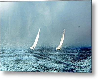 Sailing Into The Unknown Metal Print by Andrea Kollo