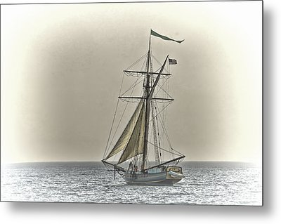 Sailing Off Metal Print