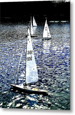Sailing On Blue Metal Print by Steve Taylor