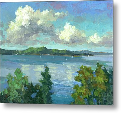 Sailing On Puget Sound Metal Print by Diane McClary