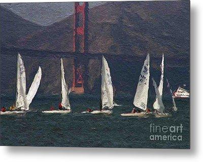 Sailing On The Bay 2 Metal Print