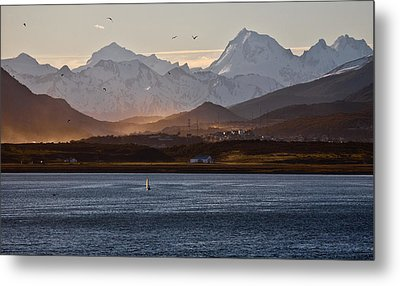 Sailing On The Beagle Channel Metal Print by June Jacobsen