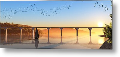 Sailing Out To Sea... Metal Print